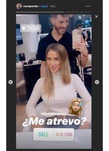 María Pombo en su peluquería de confianza, peluquerías de las influencers