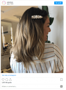 Blanca Suárez de rubio en su peluquería, peluquerías de las influencers